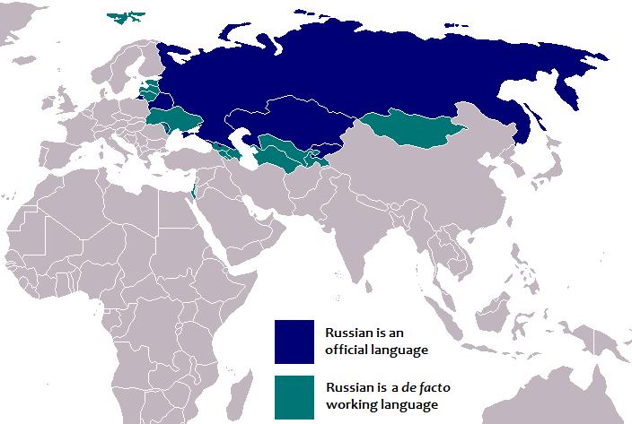 زبان روسی و متکلمانش در جهان